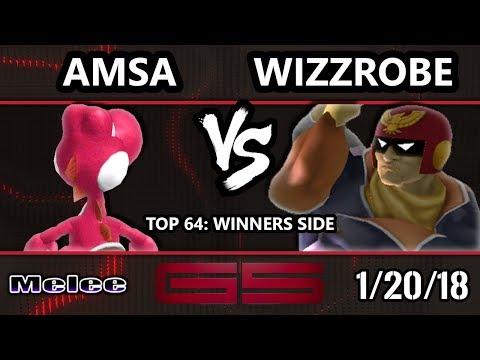 GENESIS 5 SSBM - VGBC | aMSa (Yoshi) VS Fry's | Wizzrobe (Captain Falcon) - Melee Top 64 Singles