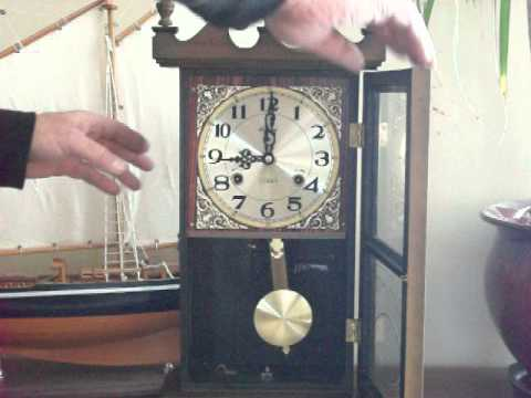 Vintage Alaron Chime Mantel Wall Clock Youtube