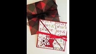 Tri-Fold Christmas Card