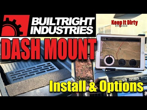BuiltRight Dash Mount Installation For IPad