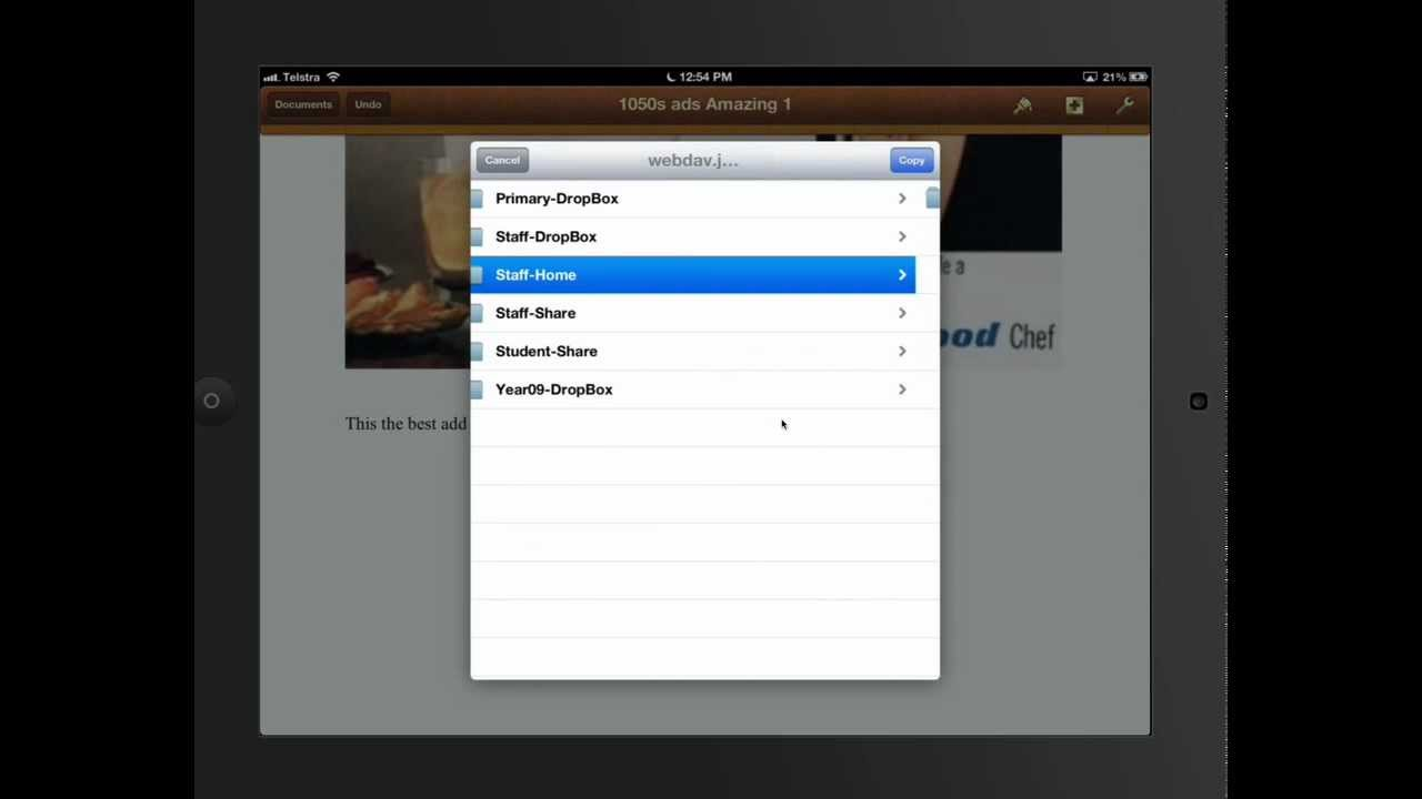 iPad Tutorial - Pages - WebDAV Basics mov