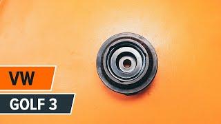 Гледайте видео ръководство за това как да заменете Спирачен барабан на VW GOLF III (1H1)