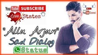 Allu Arjun || Sad Whatsapp Status Allu Arjun || Whatsapp Status In Hindi