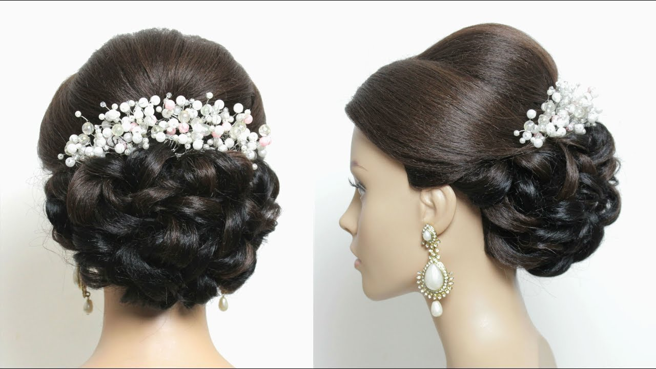 Bridal  Hairstyle  Tutorial Romantic Updo  For Long Hair