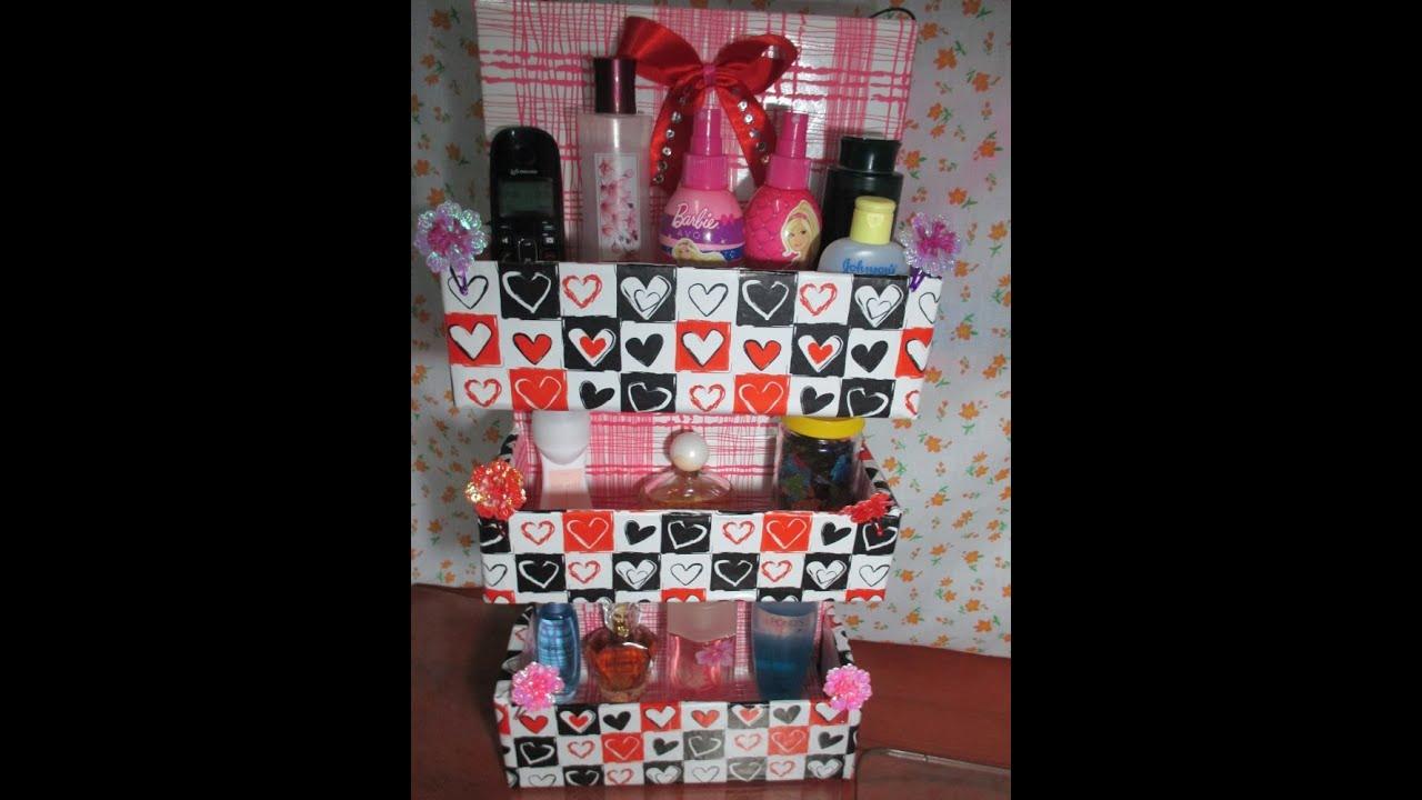 Diy repisa de carton para perfumes youtube - Repisas de pared ...