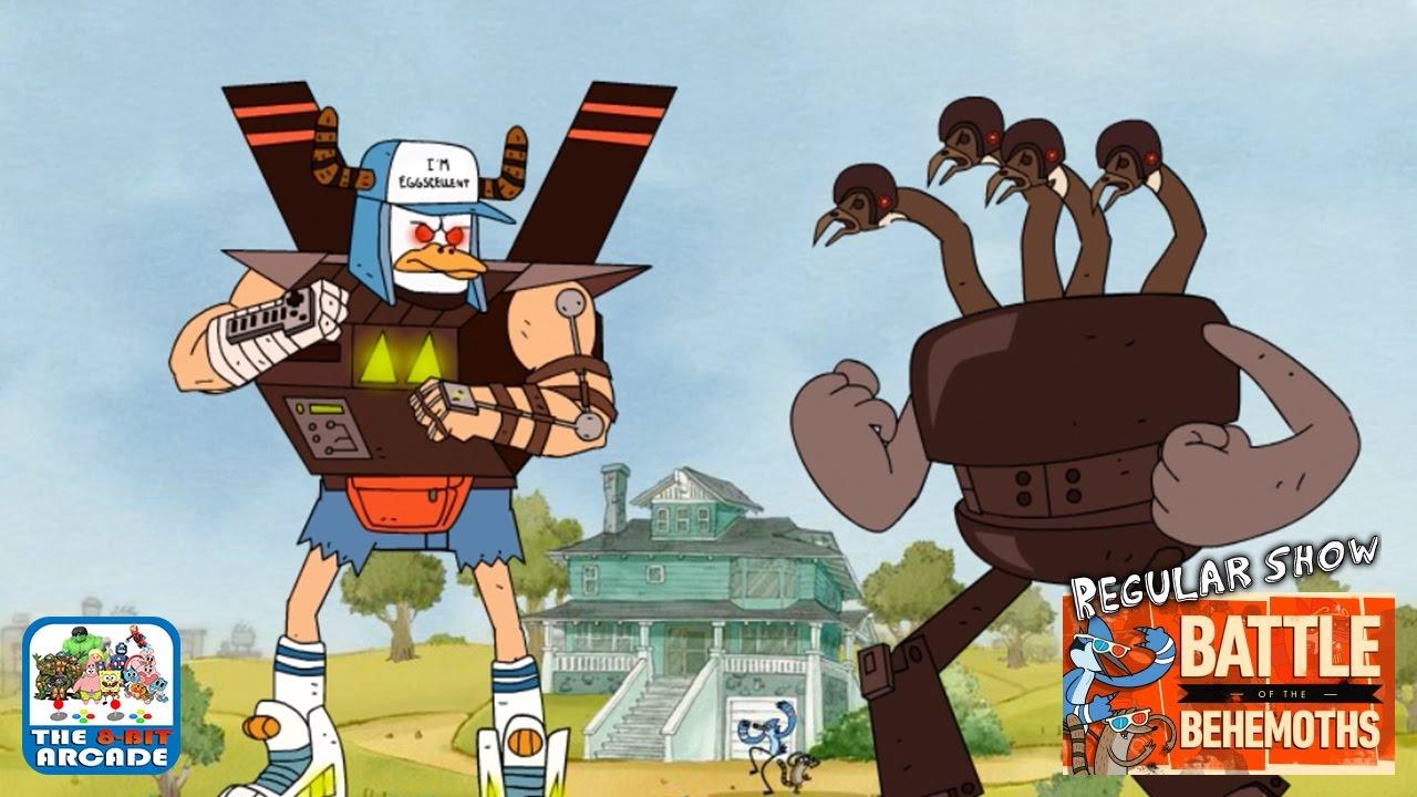 Regular Show Battle Of The Behemoths All Out Duel Of Destruction Cartoon Network Games Youtube