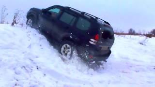 Тойота Ленд Крузер Прадо 120 в снежную гору