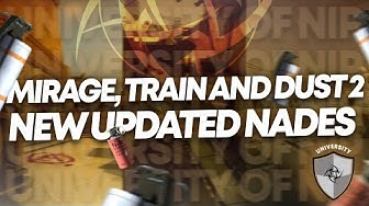 Dust2, Mirage and Train CSGO NADE TUTORIAL | Ninjas in Pyjamas