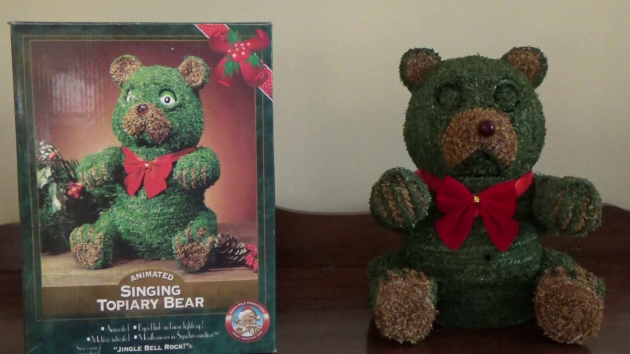 Swinging bear topiary