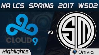 c9 vs tsm highlights game 2 na lcs spring 2017 w5d2 cloud9 vs team solo mid