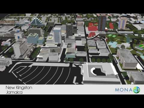New Kingston, Jamaica. 3D Flyover