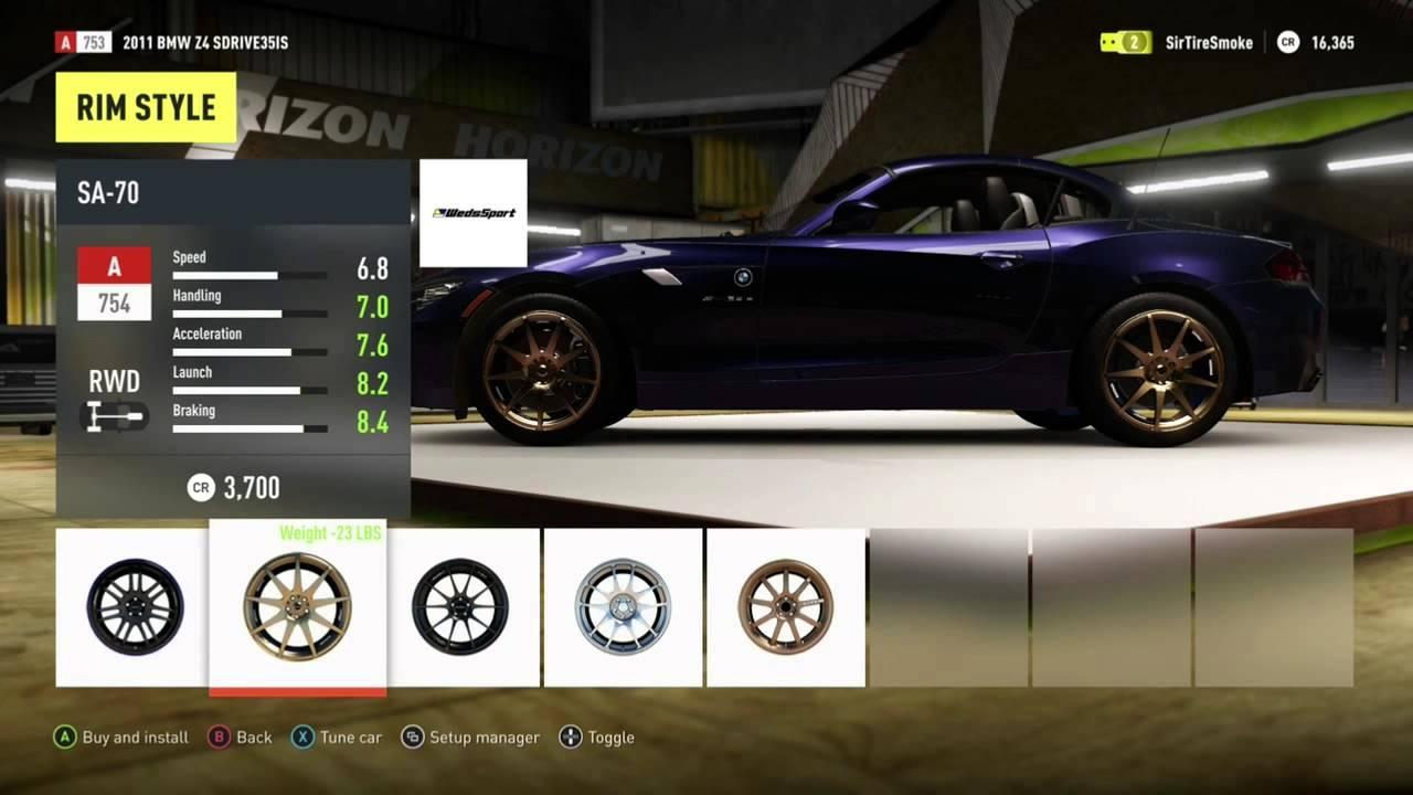 Forza Horizon  Car List Standard