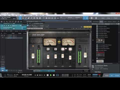 Testing plugin CLA MixDown - WAVES AUDIO