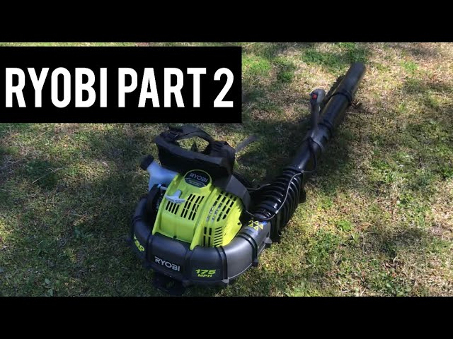 Ryobi 38cc Backpack Blower More Testing Youtube