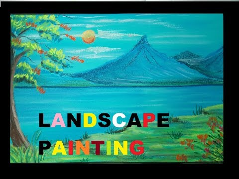 Kids soft pastels Landscape painting.simple and step by step tutorial