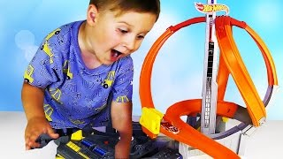 Супер Трек ХОТ ВИЛС - Мощный Вихрь Hot Wheels Spin Storm Unboxing and Play