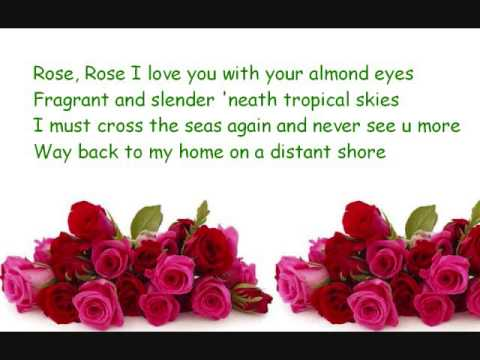 Rose Rose I Love You Flower Of Malaya Youtube