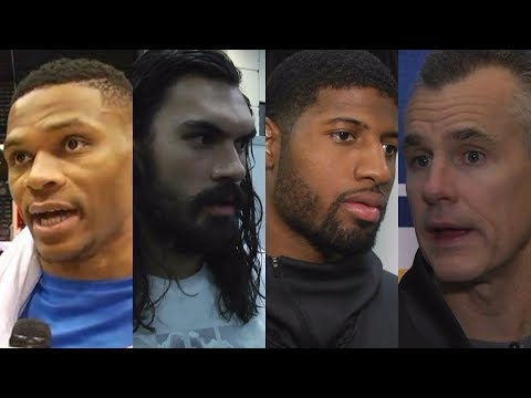 (FULL) Russell Westbrook, Steven Adams, Paul George, Billy Donovan interviews on Thunder win | ESPN