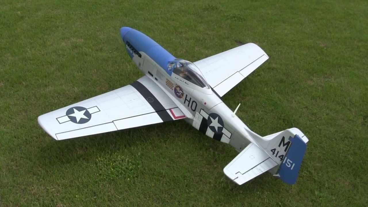 Hangar 9 P 51 Mustang Blue Nose Maiden Youtube
