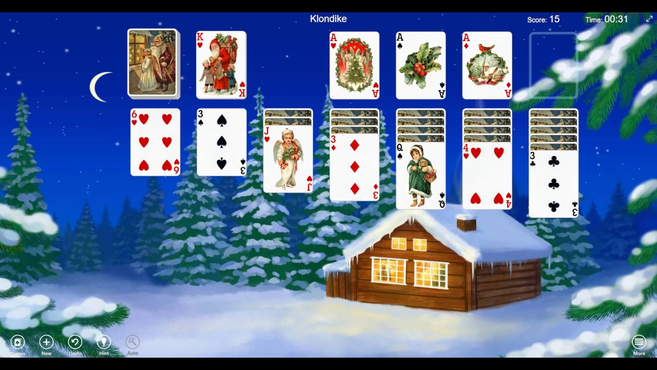 Christmas Solitaire Freecell.Get Into The Christmas Spirit With Christmas Time Solitaire