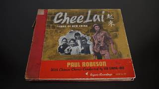 78RPM - Chee Lai Songs of New China Paul Robeson Liu Liang Mo (1941) Keynote 109