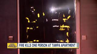 Fire kills one person at Tampa apartment