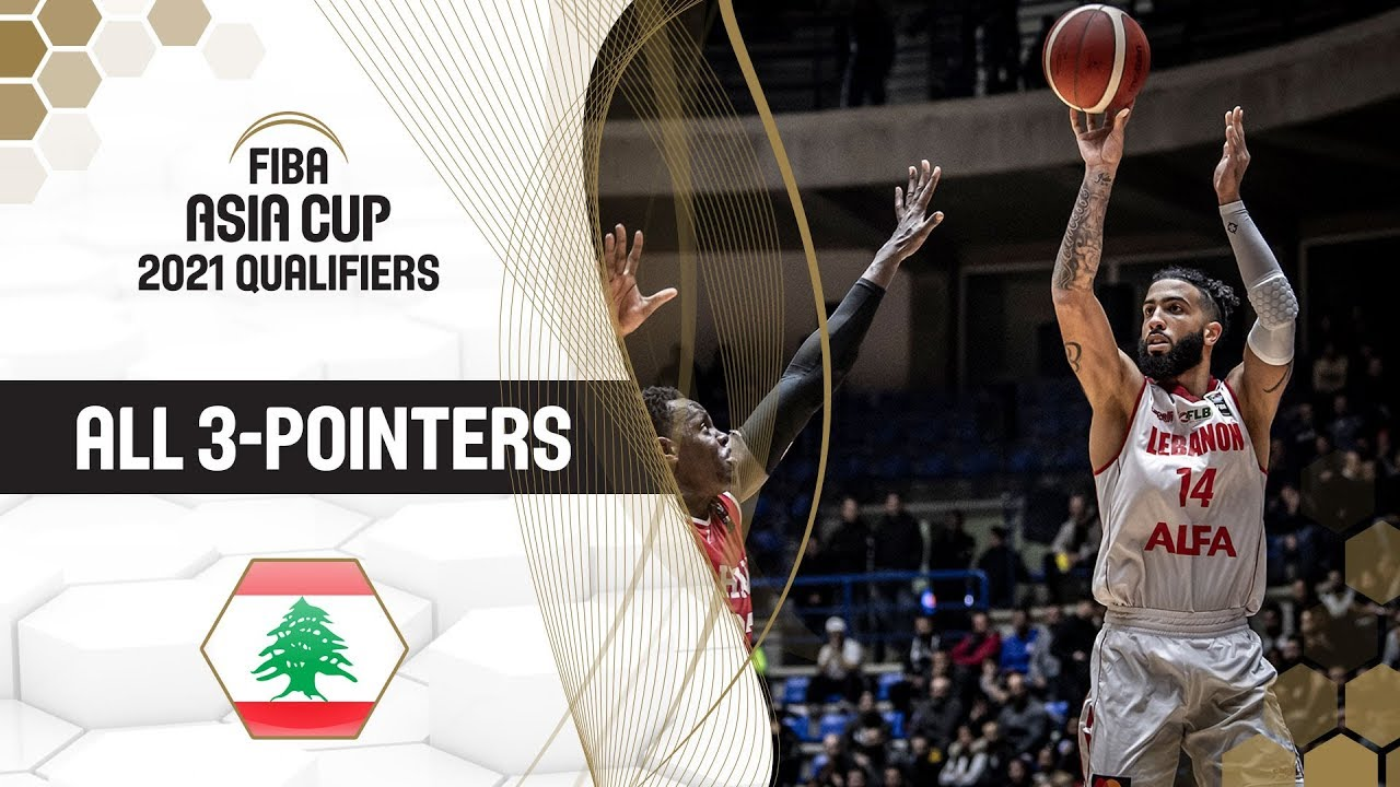 All 3-Pointers made by Lebanon! | FIBA Asia Cup 2021