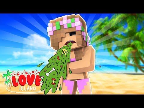 LITTLE KELLY PUKES ON LOVE ISLAND!!! - Minecraft Little Club Adventures