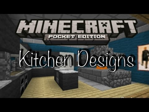 Kitchen Ideas In Minecraft minecraft pe - kitchen designs - youtube