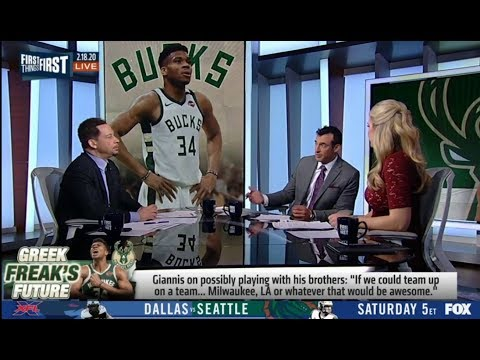 """Chris Broussard: Giannis on possibly playing with his brothers: """"If we could team up on a team.."""""""