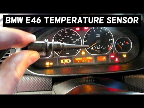 HOW TO REPLACE AMBIENT AIR TEMPERATURE SENSOR on BMW E46