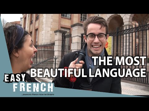 What's the most beautiful language in the world?   Easy French 96