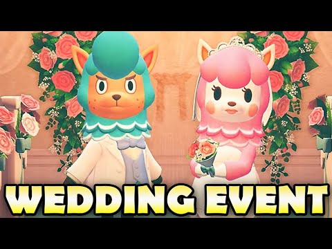 🤵👰 How To Get ALL WEDDING EVENT ITEMS In Animal Crossing New Horizons!