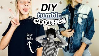 DIY Tumblr Inspired Clothes! | Marla Catherine