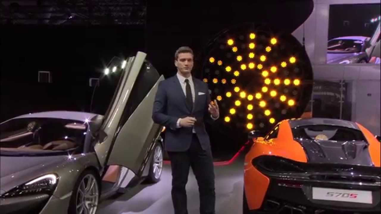 McLaren Press Conference at the New York Auto Show 2015