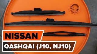 Ako vymeniť stierače na NISSAN QASHQAI (J10, NJ10) [NÁVOD AUTODOC]