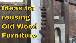 Ideas for reusing Old Wood Furniture Decorate Wooden Beams Quick Cheap Decor Ideas DIY Creative