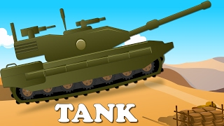Army Tank | Car Wash Videos for Children | Police Cars Cartoon for Kids