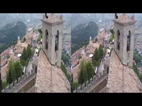 3D video the most beautiful places in the world: San Marino