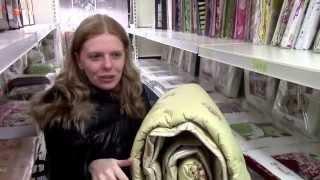 видео Одеяло из верблюжьей шерсти