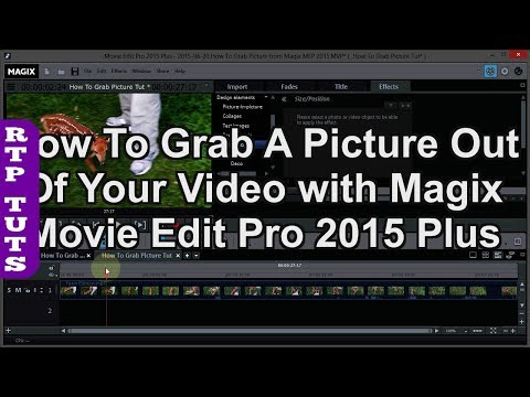 Magix Movie Edit Pro Plus How To Grab A Picture From A Video Exporting A Single Frame As Jpeg Youtube
