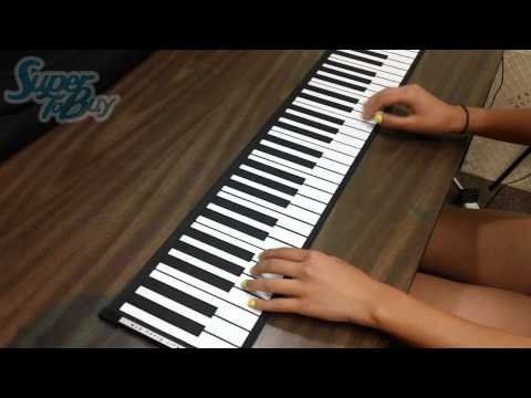 61-KEY FLEXIBLE ROLL-UP SOFTKEY MIDI KEYBOARD PIANO (Heart and Soul)
