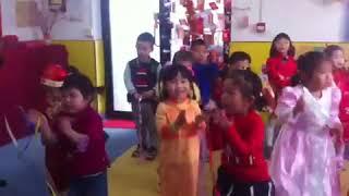 Kids singing Chinese New Year 2017