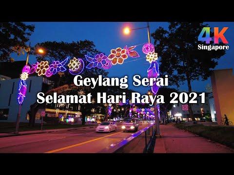 Singapore Geylang Serai Hari Raya Light up 2021 Night Walks 芽笼士乃斋戒月周末