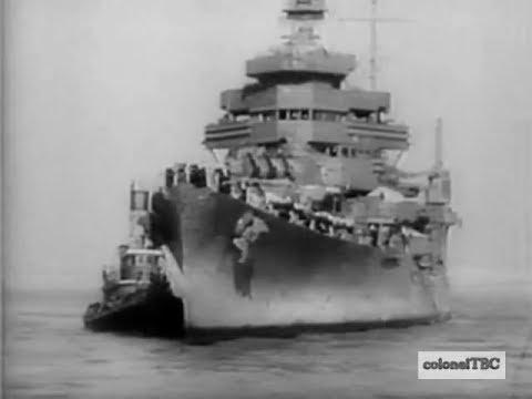 USS San Francisco (CA-38) returns to U. S. after heroic battle - December 1942
