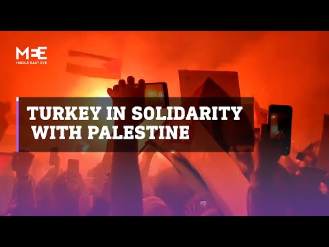 Turkey's protesters in solidarity with Palestinians in Jerusalem