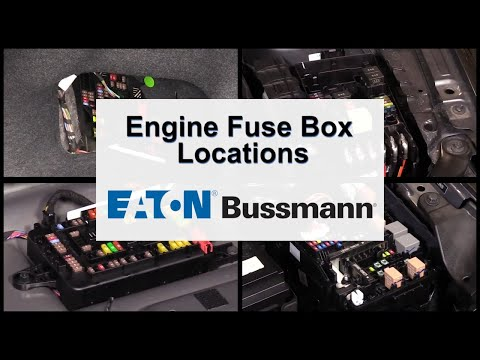 Eaton Bussmann Engine Fuse Box Location Overview