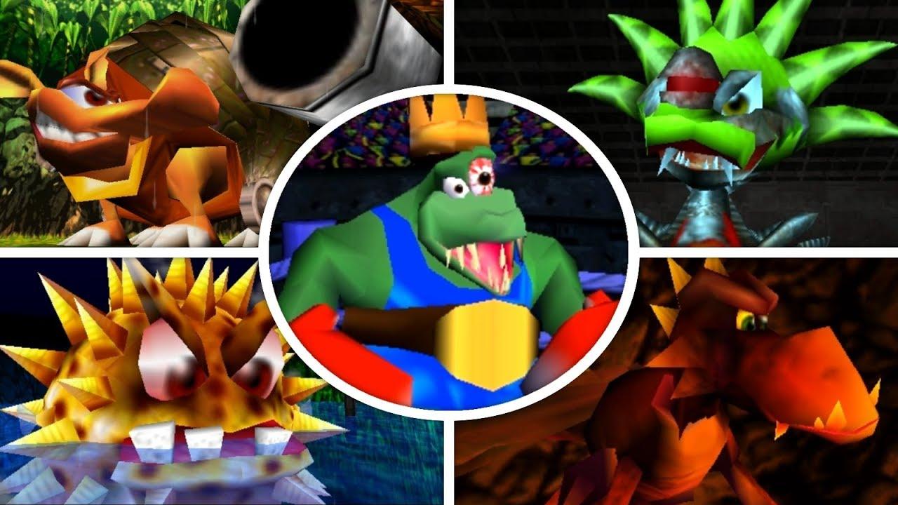 Donkey Kong 64 - All Bosses (No Damage) - YouTube  Donkey Kong 64 ...