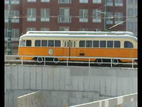 MBTA Mattapan PCC Departing Ashmont Loop