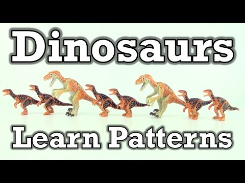 Learn Patterns with Dinosaur toys - Playmobil Dinos Learning math patterns for kids